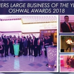 Chandaria Industries wins 'Large Business of the Year Award' at Oshwal Awards 2018