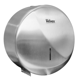 Velvex Curved Stainless Steel Single Sheet Hand Paper Towel Dispenser